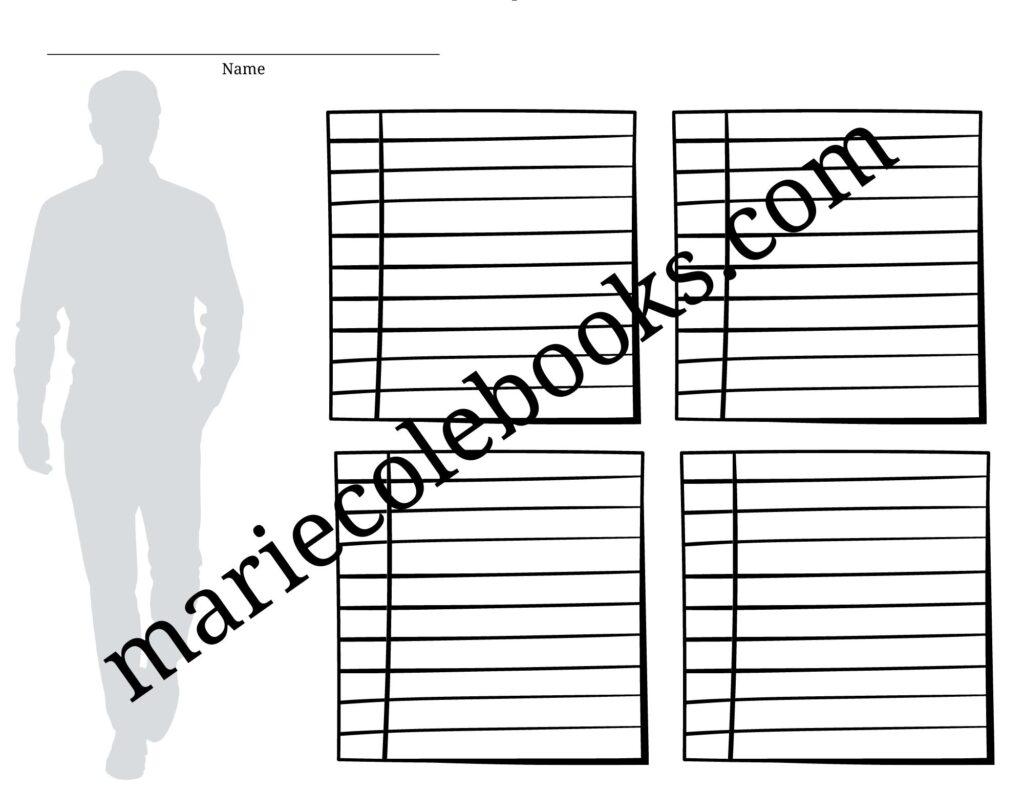 couple printable character sheet